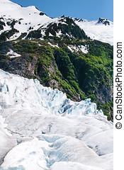 Mendenhall Glacier - Mountain peak on Mendenhall Glacier in...