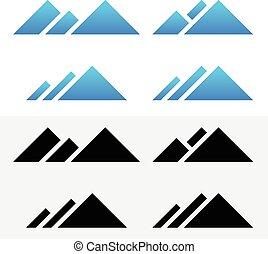Mountain Peak Symbols Mountain Peak Symbols - Eps 10 Vector...