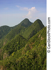 600 million year-old mountains on the tropical island of Langkawi, Malaysia