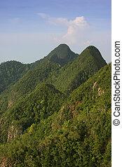 Mountain Peaks - 600 million year-old mountains on the...