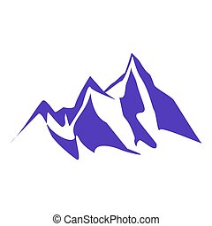 mountain peaks and cliffs - A set of several mountain...