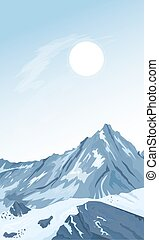 Mountain peaks background