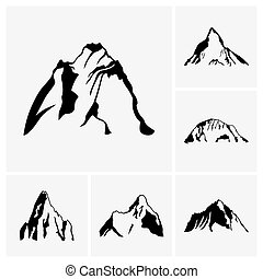 Mountain peaks - Set of mountain peaks