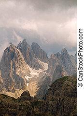 Mountain peaks  in dolomites