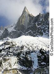Mountain peaks - Dru pick, mountain near Chamonix