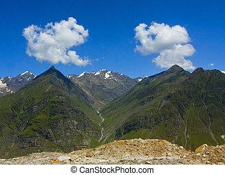 mountain peaks; - Mountains peaks; mountainsides; Himalayas;...
