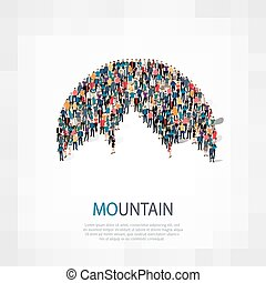 mountain people  symbol