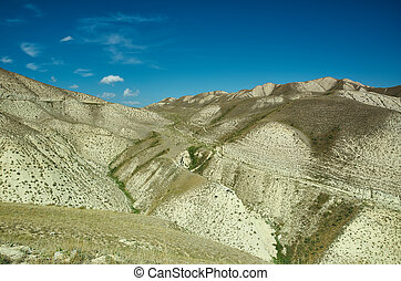 Mountain plateau district of Jalal-Abad Region in western...
