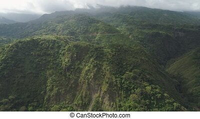 Mountain province in the Philippines. - Aerial view...