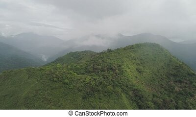 Mountain province in the Philippines. - Aerial view of...