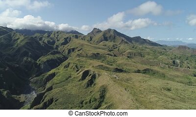 Mountain province in the Philippines, Pinatubo. - Aerial...