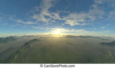 Mountain range - 3D CG rendering of the mountain range.