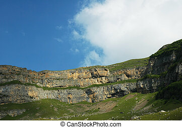 Mountain range and blue sky - Suvar, Azerbaijan