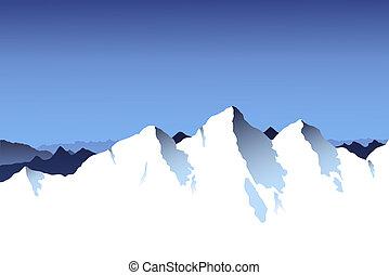Mountain Range Background - A snowy mountain range...