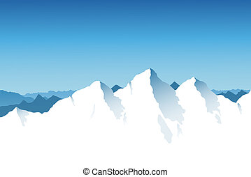 Mountain Range Background - A snowy mountain range...