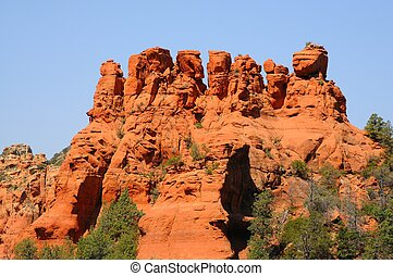 Mountain Range - Desert Mountains and rock formations at...