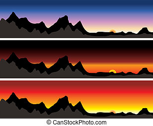 mountain range - Illustration of a montain range with...