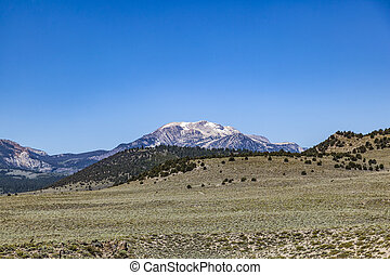 Mountain range, Eastern Sierra Mountains, Mono County, ...