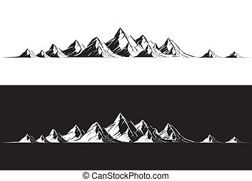 Mountain Range - Illustration of a mountain range