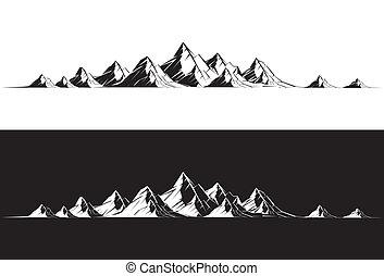 Mountain Range - Illustration of a mountain range