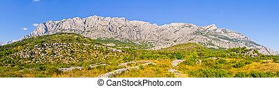 Mountain range of Biokovo national park, Croatia