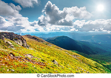 Mountain range in summer - Chorna hora mountain range....