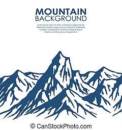 Mountain range isolated on white background