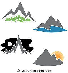 Mountain Range Set - An image of a abstract mountain range ...