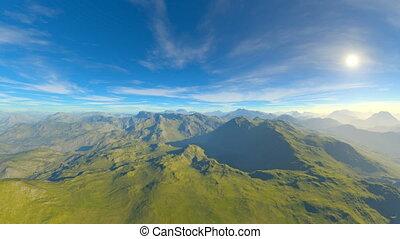 Mountain range - 3D CG rendering of the mountain range