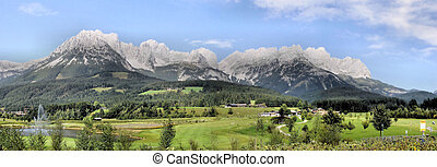 Mountain range Wilder Kaiser - The mountain range Wilder ...