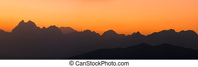 mountain ranges panorama