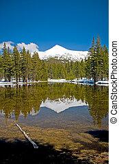 Mountain reflecting in the lake