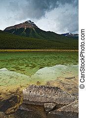 Mountain reflection, Jasper National Park, Alberta, Canada