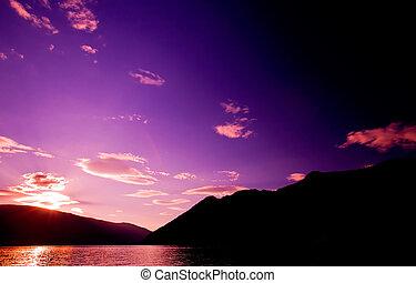 Mountain Reflection Sunset