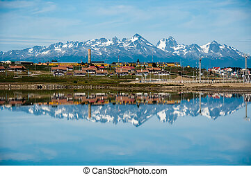 Mountain Reflections, Ushuaia, Tierra del Fuego, Argentina...