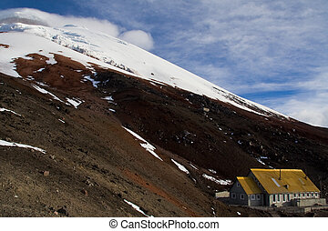 Mountain Refuge - The Refuge at 4000 metres on the foot of...