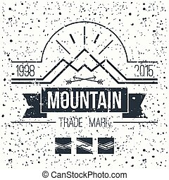 Mountain retro emblem
