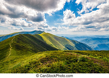 mountain ridge and valley in beautiful Carpathians. lovely...