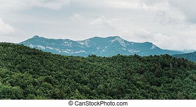 Mountain ridge landscape.