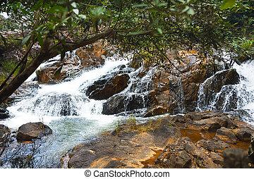 Mountain river flow