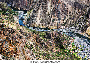 mountain river in a canyon