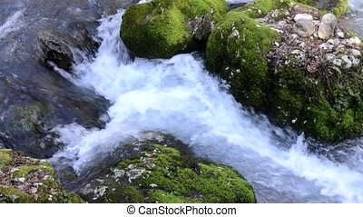 Mountain river in Abkhazia, New Athos, Caucasus. View from...