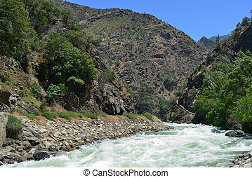 Mountain river in Kings Canyon National Park, California, USA