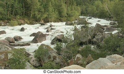 Mountain river in the Norway