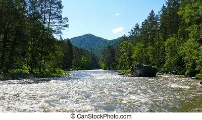 mountain river landscape, Altai, Russia