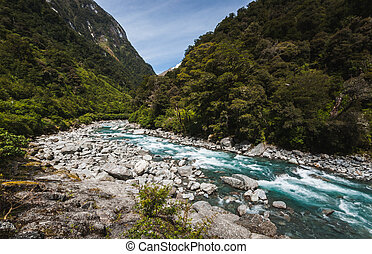 Mountain river, New Zealand