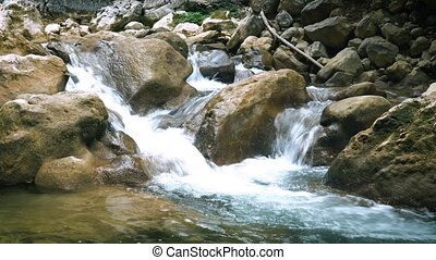 Mountain River of Crimea - Mountain river cascade of Crimea...