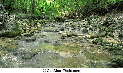 Mountain River of Crimea - Mountain river cascade of Crimea...