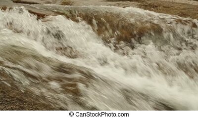 Mountain River Scene Panning Footage High Definition -...