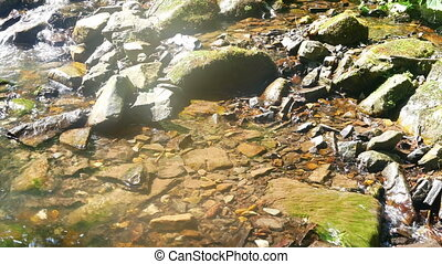 Mountain river stone water - Mountain river in summer stone...